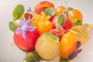 Tarleton tomatoes with rosehip and rye